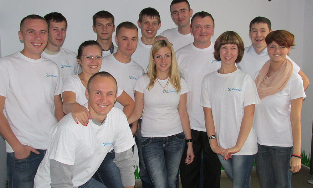 Yaware team at the Office